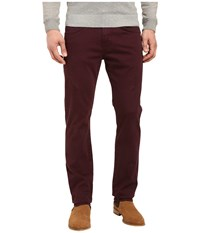 7 For All Mankind The Straight Luxe Performance Sateen In Eggplant Eggplant Men's Jeans Purple