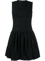 Simone Rocha Tweed Shift Dress Black