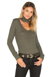 Lna Detached Turtleneck Top Army
