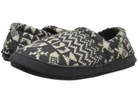 Woolrich Whitecap Knit Charcoal Snowshoe Sweater Women's Slippers Black