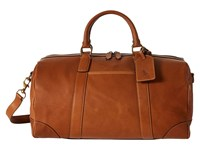 Polo Ralph Lauren Core Leather Duffel Cognac Duffel Bags Tan