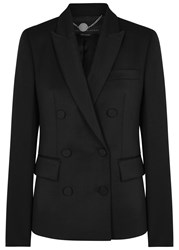 Stella Mccartney Black Double Breasted Wool Tuxedo Jacket