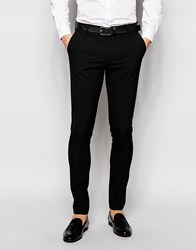 Selected Homme Super Skinny Suit Trousers With Stretch Black