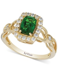 Le Vian Chrome Diopside 3 4 Ct. T.W. And Diamond 1 3 Ct. T.W. Ring Green