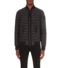 True Religion Contrast Trim Quilted Shell Jacket Black