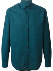Lanvin Button Down Collar Shirt Green