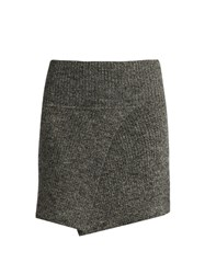 Etoile Isabel Marant Estelle Ribbed Knit Mini Skrit Grey
