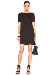 Atm Anthony Thomas Melillo Mercerized Cotton 3 4 Sleeve Dress In Black