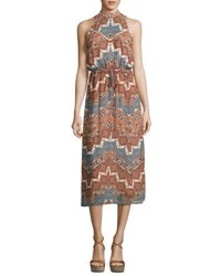 Wayf Portrait Sleeveless Maxi Dress Rust