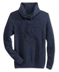 American Rag Men's Mix Stitch Funnel Neck Sweater Only At Macy's Basic Navy