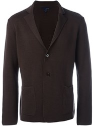 Lardini Three Button Blazer Brown