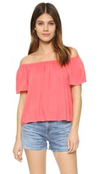 Bb Dakota Sami Off Shoulder Top Coral
