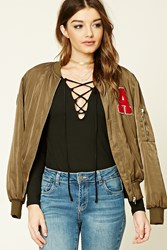Forever 21 Lace Up Knit Top