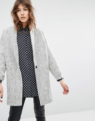 Suncoo Eloi Coat In Herringbone Tweed Multi