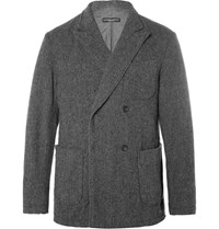 Engineered Garments Garment Dexter Herringbone Double Breated Wool Blazer Gray