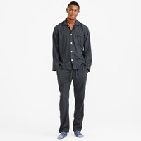J.Crew Flannel Pajama Set In Fine Stripe