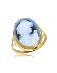 Del Gatto Woman Agate Cameo 18K Gold Ring