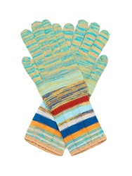 Missoni Striped Ribbed Knit Gloves