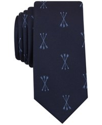 Bar Iii Men's Arrows Graphic Print Tie Only At Macy's Light Blue
