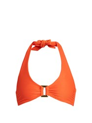 Heidi Klein Cayman Islands Halterneck Bikini Top Orange