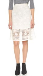 Cupcakes And Cashmere Pippen Lace Circle Skirt Ivory