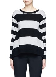 Stella Mccartney Stripe Silk Cashmere Wool Combo Sweater Multi Colour