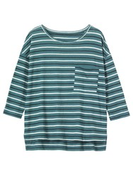 Toast Oversized Stripe T Shirt Kingfisher