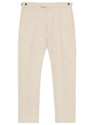 Reiss Saunders Modern Fit Suit Trousers Oatmeal