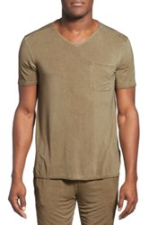 Daniel Buchler V Neck Shirt Green