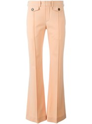 Chloe Flared Trousers Pink And Purple