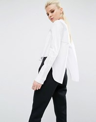 Kendall Kylie Open Back Shirt White