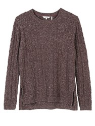 Fat Face Rede Cable Jumper Hot Chocolate