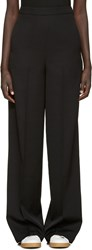 Ports 1961 Black Wool High Rise Trousers