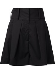 J.W.Anderson J.W. Anderson High Waisted Pleated Front Shorts Black