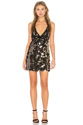 Motel Finn Dress Metallic Gold