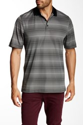 Cutter And Buck Cb Drytec Commissioner Stripe Polo Black