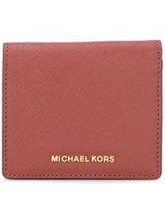 Michael Michael Kors Logo Wallet Red