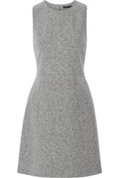 Theory Raneid Wool Blend Mini Dress Gray