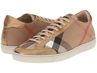 Burberry Hartfield Heritage Gold Women's Lace Up Casual Shoes Beige