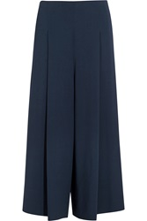 The Row Loja Cropped Stretch Cady Wide Leg Pants
