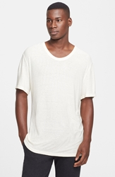 Alexander Wang Slub Scoop Neck T Shirt Ivory