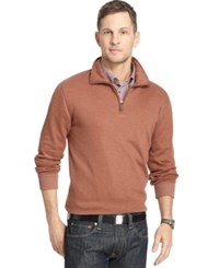 Van Heusen Spectator 1 4 Zip Sweater Brown Tortoise Heather