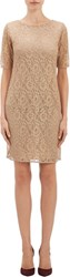 Barneys New York Metallic Lace Dress White Size 0 Us