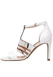 French Connection Lia High Heeled Sandals Summer White Silver