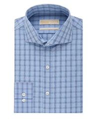 Michael Michael Kors Checked Non Iron Dress Shirt Blue