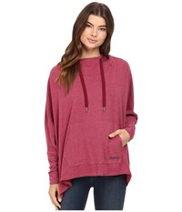 Bench Sharpness Loose Sweatshirt Rhododendron Marl Women's Sweatshirt Red
