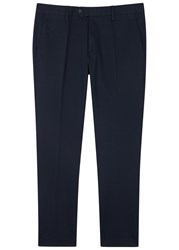 Nn.07 Theo Navy Stretch Cotton Chinos
