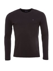 Eden Park Long Sleeved Cotton T Shirt Black