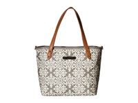 Petunia Pickle Bottom Glazed Downtown Tote Mini Breakfast In Berkshire Tote Handbags Bone
