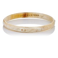 Monique Pean Women's Rose Gold And Buffalo Horn Bangle No Color